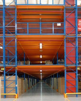 Rack Supported Raised Storage Areas